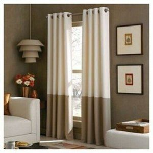 Curtainworks Kendall ONE Curtain Panel 52 x 63 new